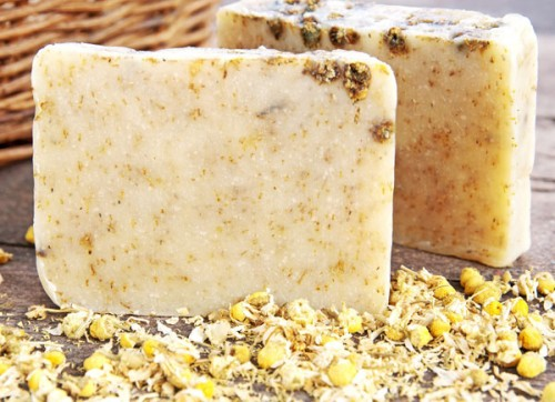 chamomile soap  (via soaprecipes101)