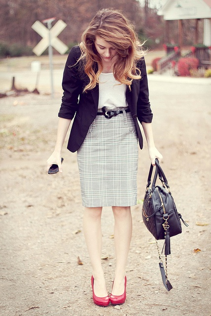 Picture Of cool red and grey work outfits to get inspired  14