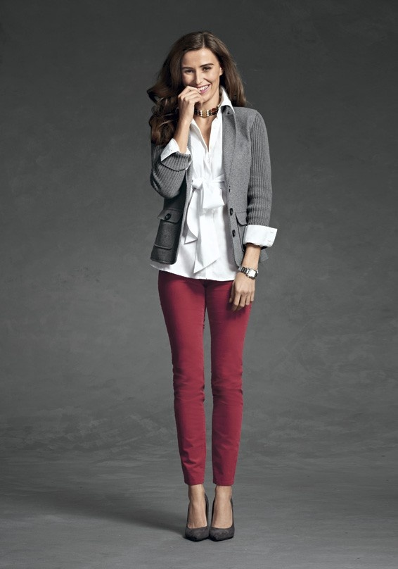 Picture Of cool red and grey work outfits to get inspired  5