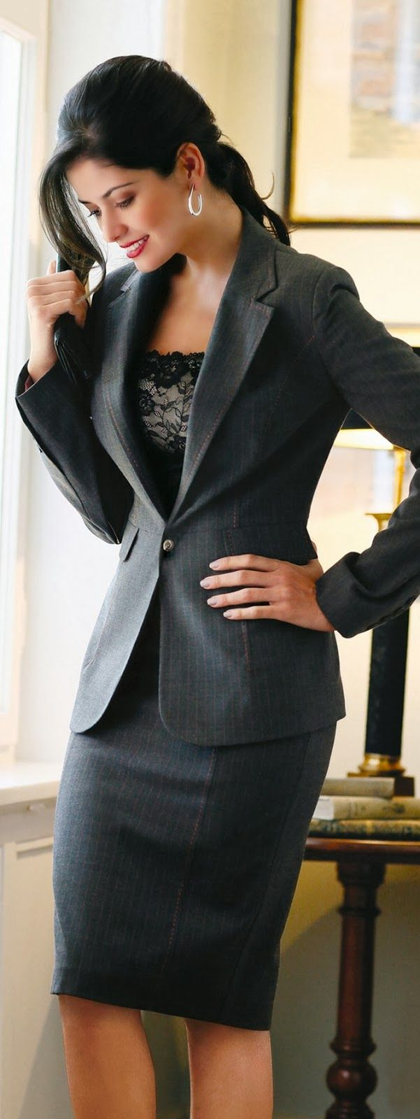 Picture Of cool ways to rock lace at work  22
