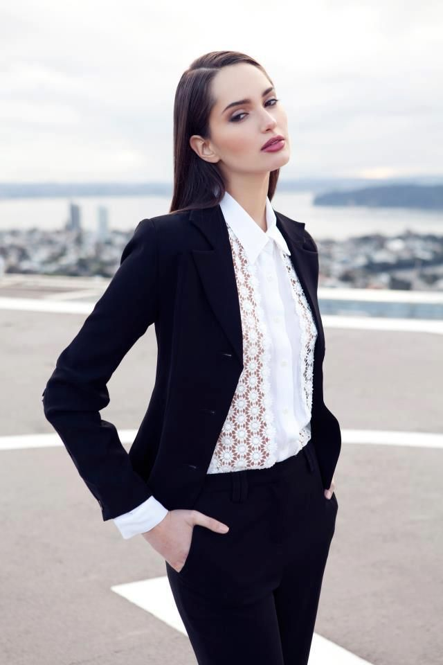 Picture Of cool ways to rock lace at work  24