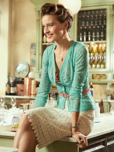 Picture Of cool ways to rock lace at work  25