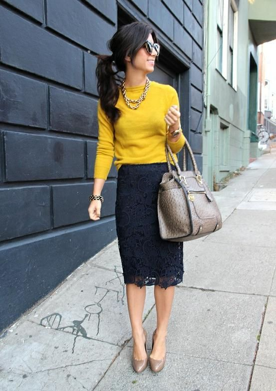 Picture Of cool ways to rock lace at work  7