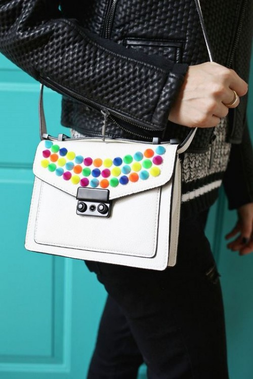 Creative And Fun DIY Bag Upgrade With Colorful Spikes
