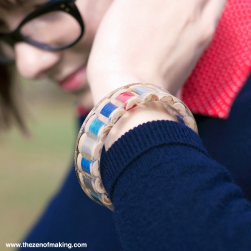 Creative DIY Resin Thread Spool Bracelet