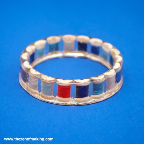 Creative DIY Resin Thread Spool Bracelet