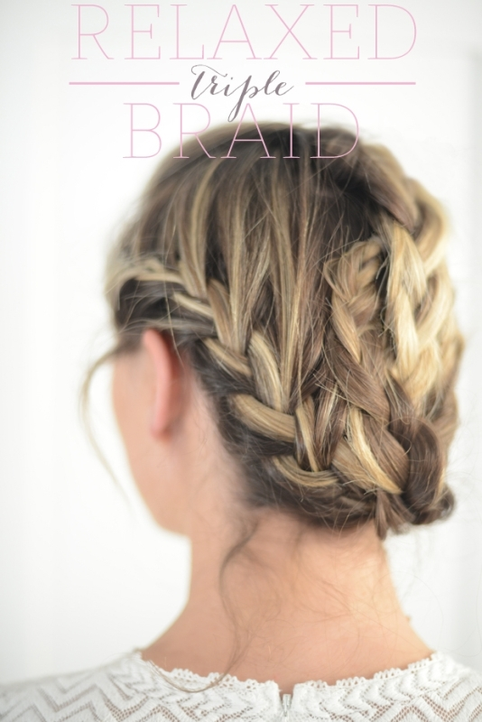 Picture Of cute and relaxed diy triple braid to try  1
