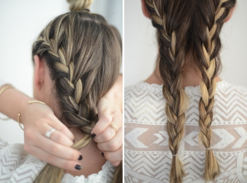 Picture Of cute and relaxed diy triple braid to try  3