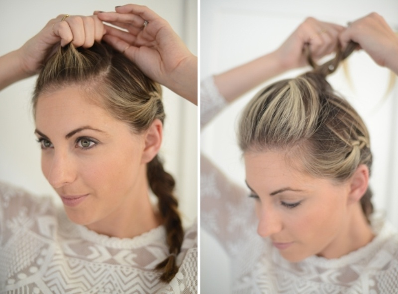 Picture Of cute and relaxed diy triple braid to try  4