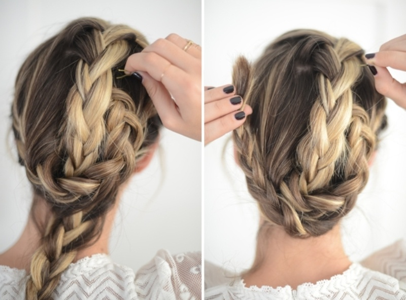 Picture Of cute and relaxed diy triple braid to try  5