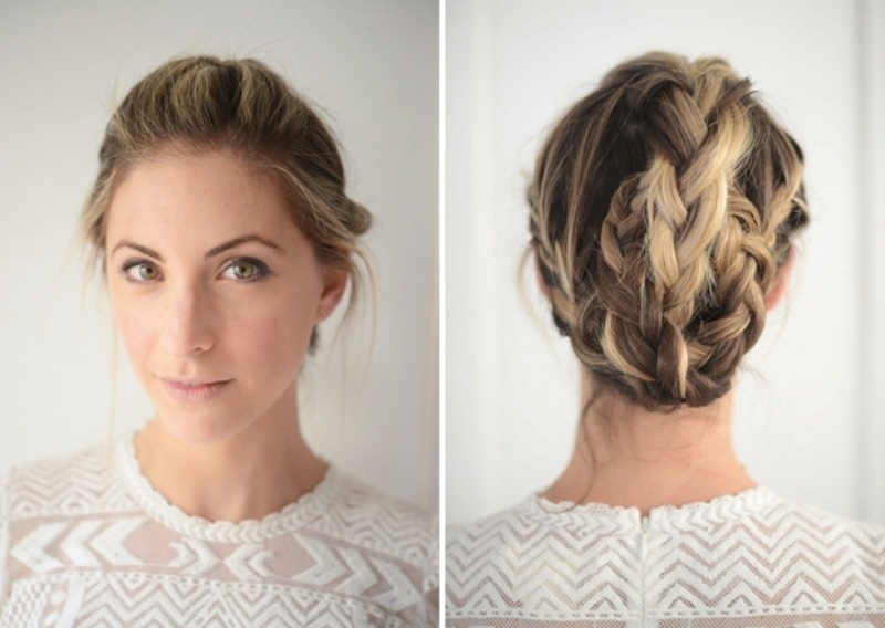 Picture Of cute and relaxed diy triple braid to try  6