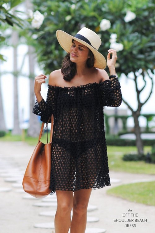 off the shoulder beach dress
