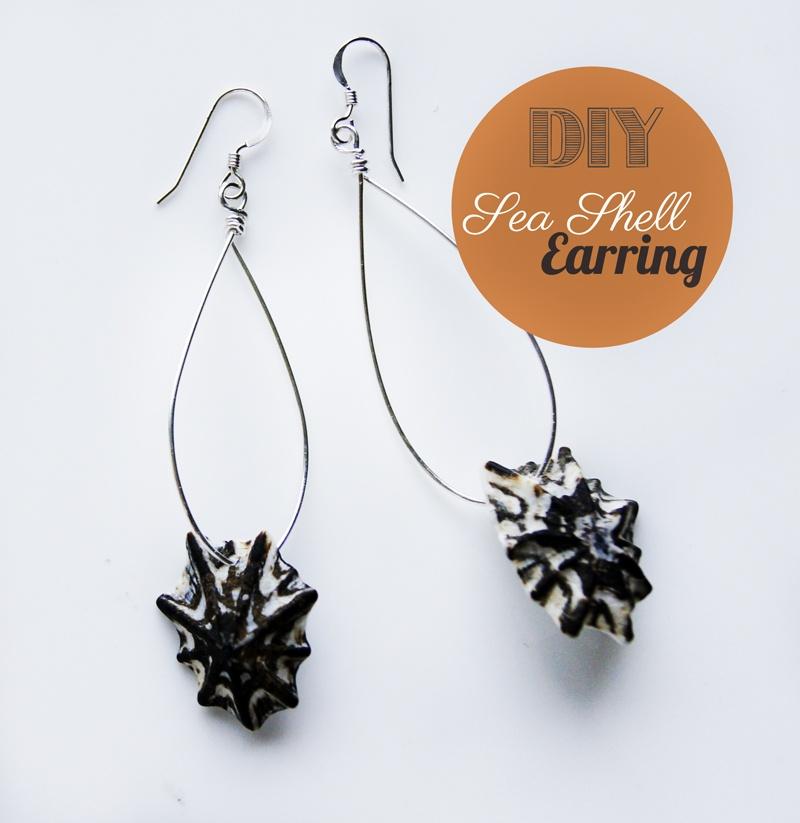 seashell wire earrings