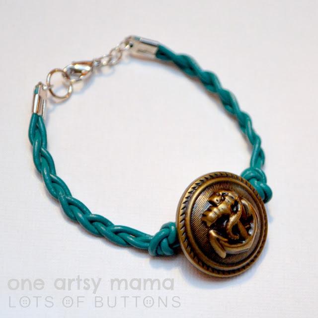 braided anchor bracelet