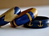painted nautical bangles