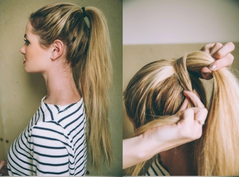 Groovy Cute Diy Bubble Ponytail To Make Styleoholic Natural Hairstyles Runnerswayorg