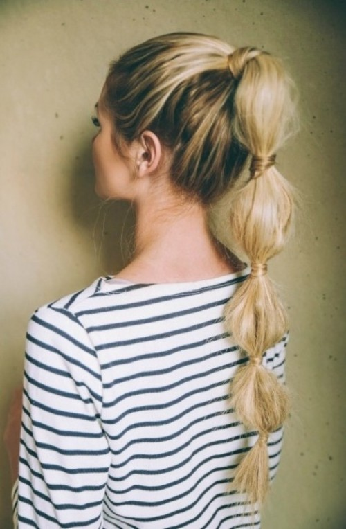 Cute DIY Bubble Ponytail To Make
