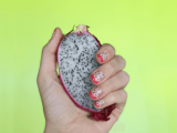 cute-diy-dragon-fruit-inspired-nail-design-1