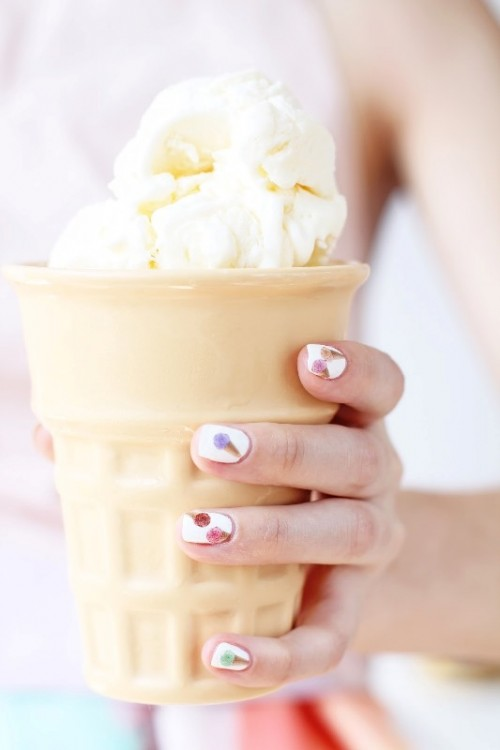 Cute DIY Ice Cream Nail Design To Try