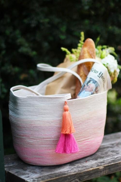 Cute DIY Rope Tote Bag To Make