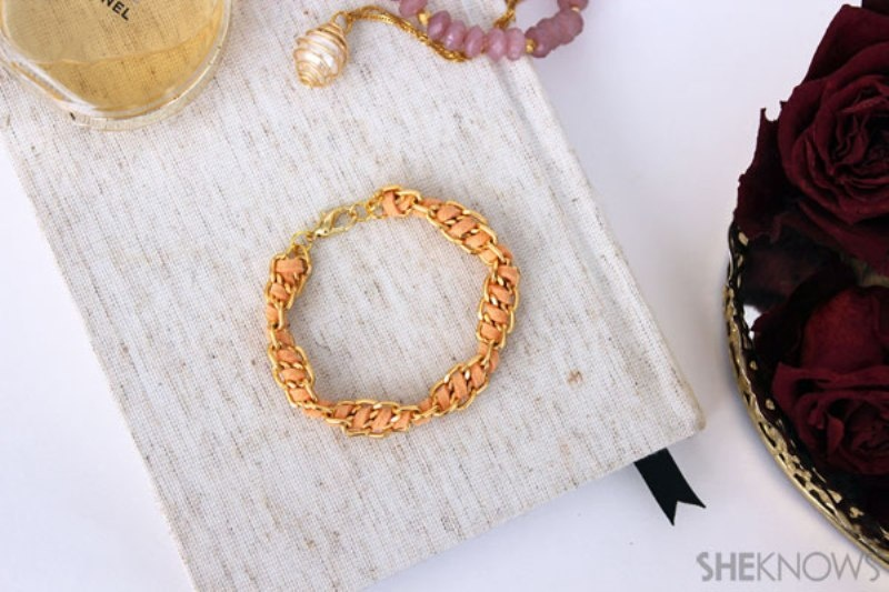 Picture Of cute diy spiral chain and suede bracelet  8