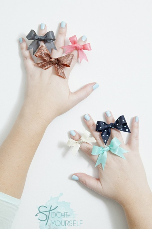 Cutie DIY Bow Rings To Make