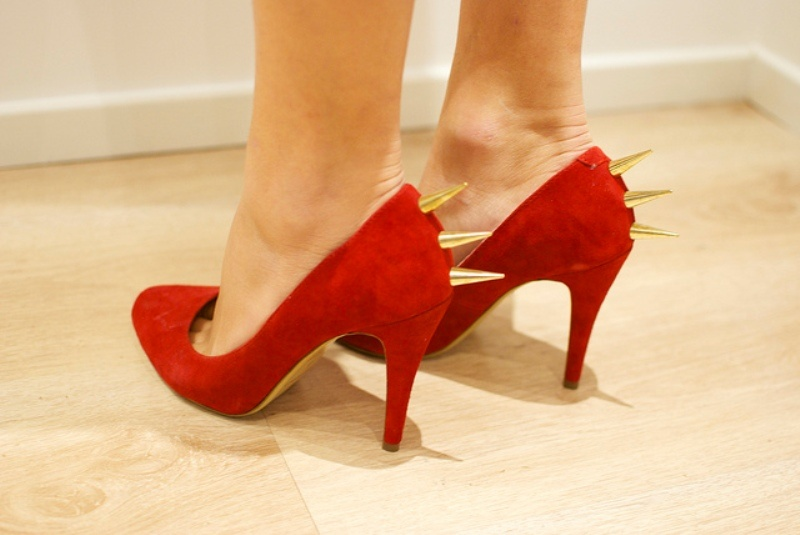 Picture Of daring diy spiked heels  1