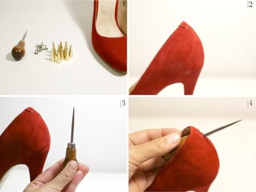 Daring DIY Spiked Heels