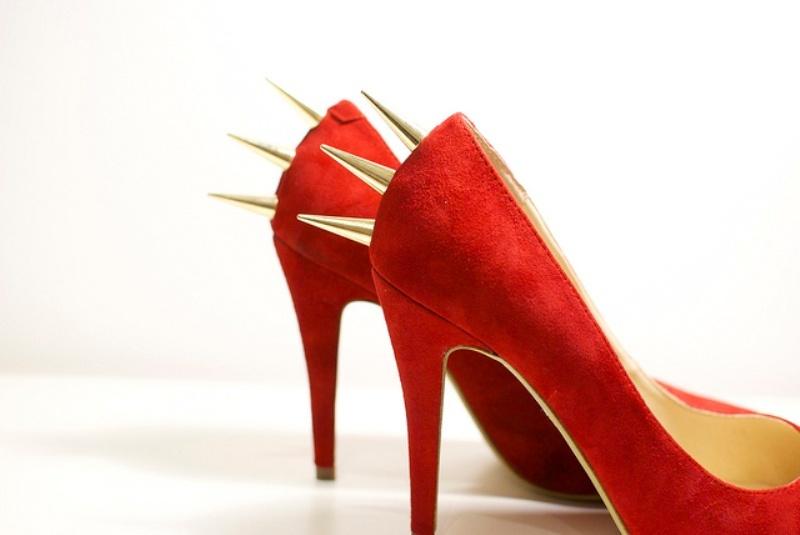 Picture Of daring diy spiked heels  6
