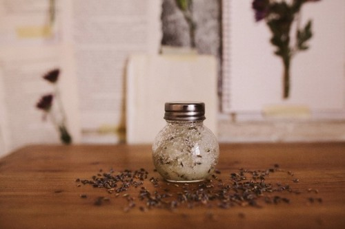 calming lavender body scrub