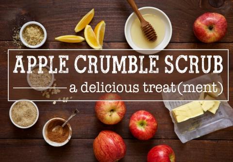 apple crumble beauty scrub