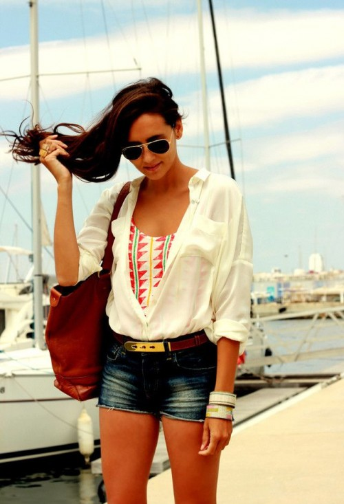 24 Stylish Denim Shorts Outfits For Summer