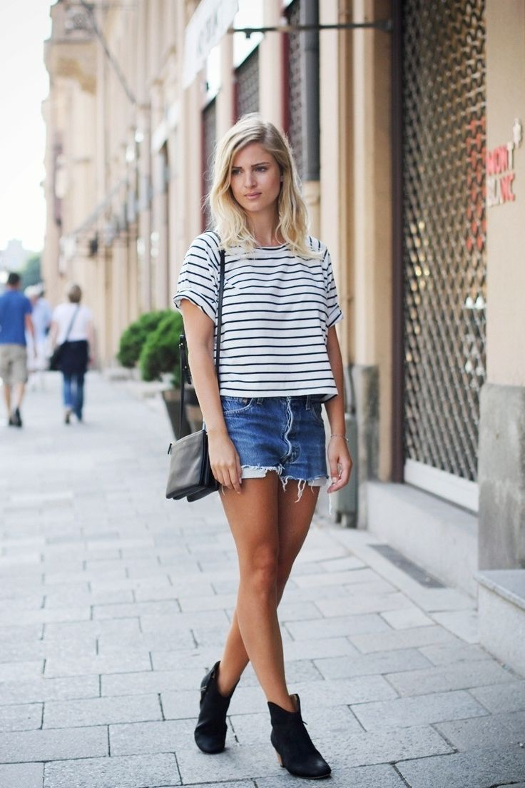 Picture Of Denim Shorts Outfits For Summer 11