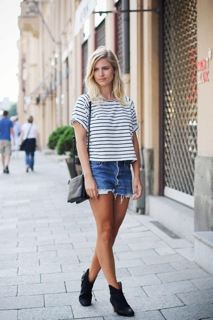 24 Stylish Denim Shorts Outfits For Summer - Styleoholic