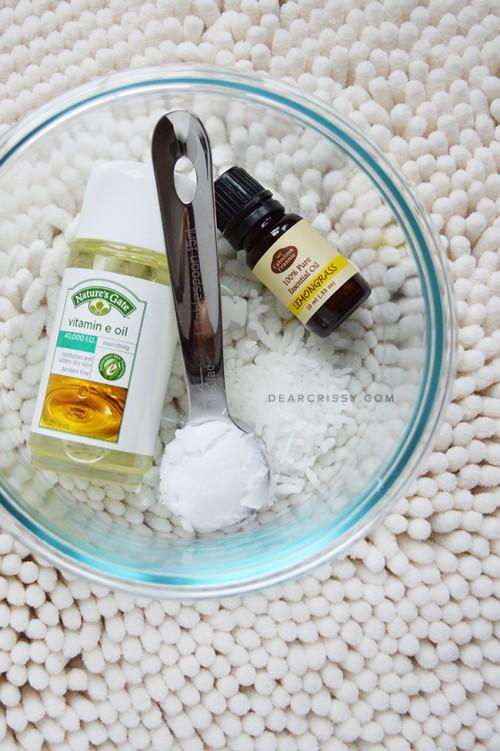 DIY All Natural Lemongrass Lip Balm