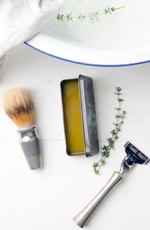 DIY All Natural Shaving Cream For Men