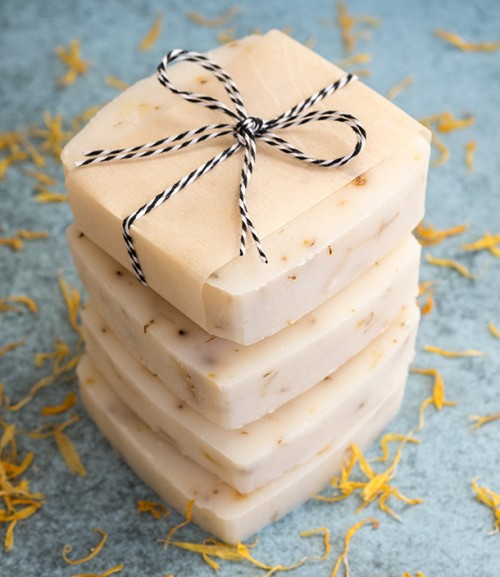 calendula soap (via dabblesandbabbles)