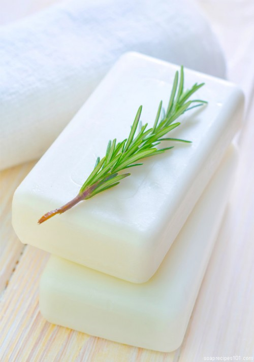 rosemary and goat milk soap (via shelterness)