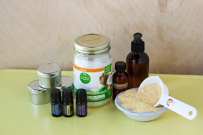 Picture Of diy allergy relief balm with almond and coconut oils  4