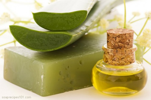 aloe vera soap (via soaprecipes101)