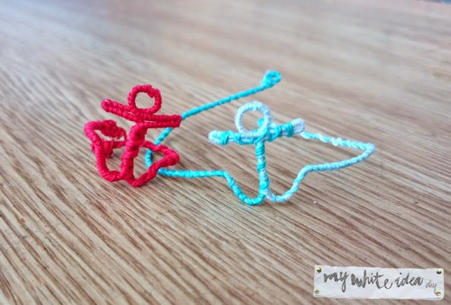 DIY Anchor Bracelet And Ring To Remind Of Holidays