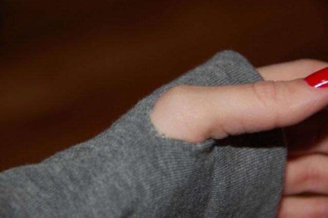 Picture Of diy arm warmers of knee socks  3
