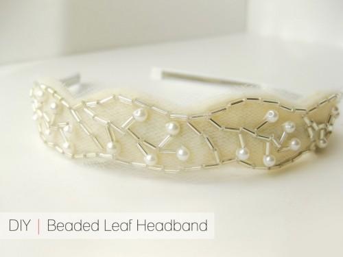 DIY Beaded Leaf Headband