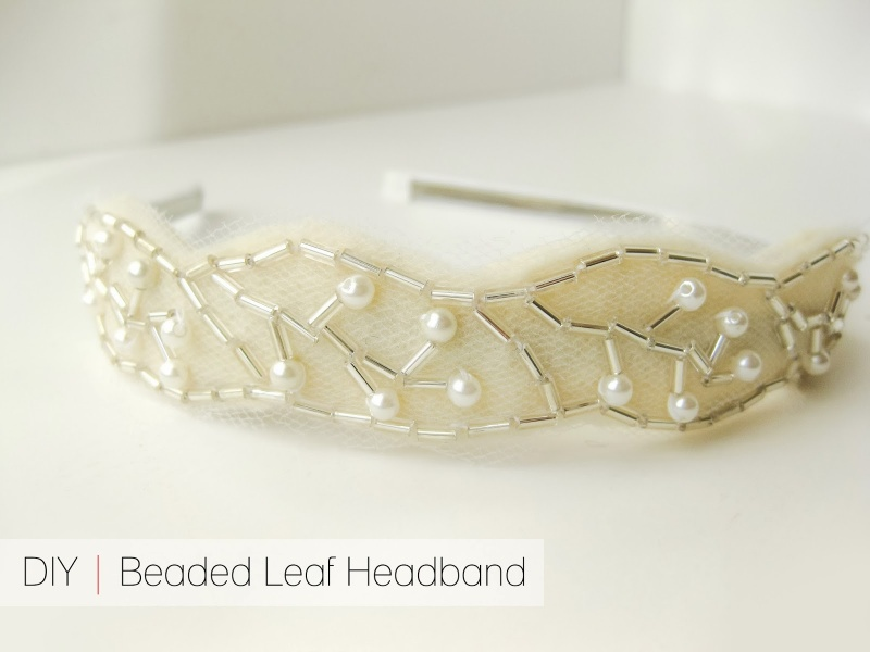 Picture Of diy beaded leaf headband  1