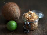 lime and coconut foot scrub
