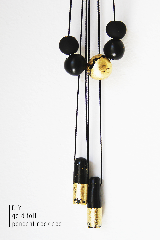Picture Of diy black and gold pendants in various shapes  2