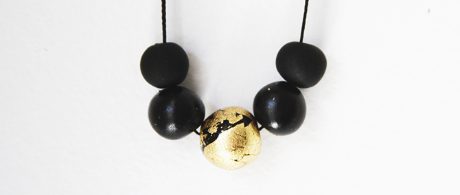Picture Of diy black and gold pendants in various shapes  3
