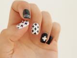 diy-black-and-white-swiss-cross-nail-art-1