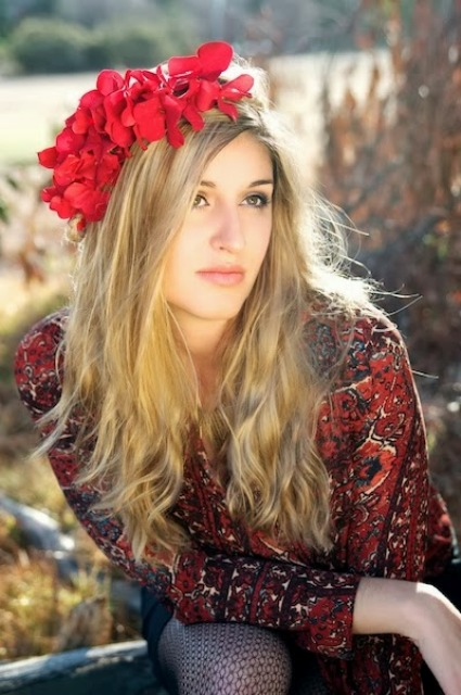 Picture Of diy bohemian flower headband  1
