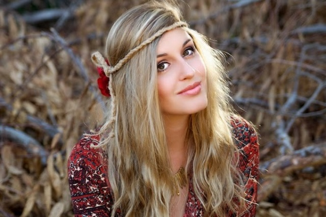 Picture Of diy bohemian flower headband  6